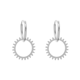 Earrings Keep Turning - silver