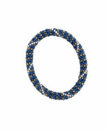 Roll on bracelet Loffs - blue/white
