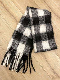 Comfy winter scarf - black/white