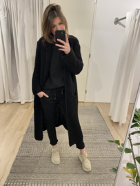 Knitted long cardigan - black
