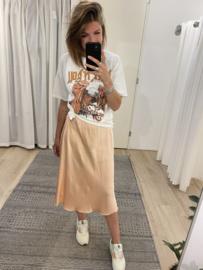 Silk skirt - salmon