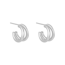 Earrings Circled - silver