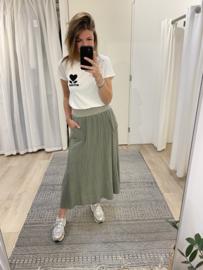 Cotton pocket skirt - army green