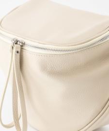 Leather crossbody bag - beige