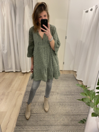 Embroidery tunic - army green