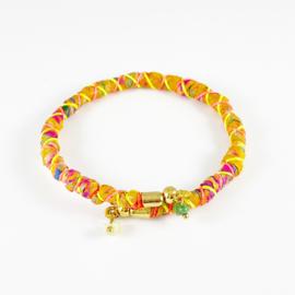 Sari wrap bracelet Loffs - yellow