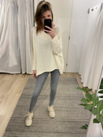 Cotton long back pull - beige