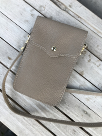 Little phone bag - leather taupe