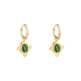 Earrings Mystic Wave - green