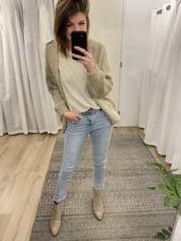 Knitted cardigan - taupe/beige