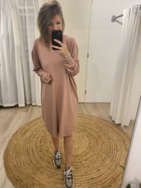 Wide pull dress - old pink