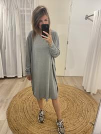 Wide pull dress - army green/grey