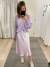 Button short cardigan - purple