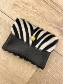 Leather wallet - zebra