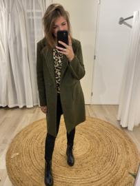 Bouclé jacket - army green
