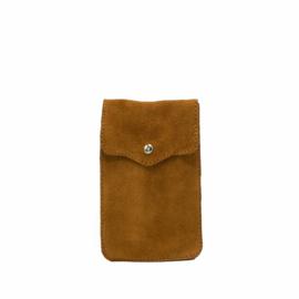 Little phone bag - suede camel