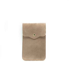 Little phone bag - suede pink