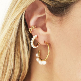 Earrings Pearl Around - gold