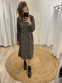 Blouse ceintuur dress Azzurro - black/pink