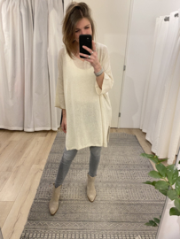 Cotton bow tunic - beige
