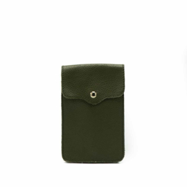 Little phone bag - leather army green