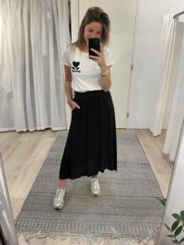 Cotton pocket skirt - black