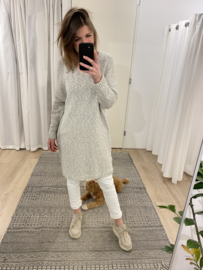 Cotton V-pull - grey