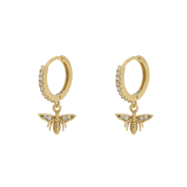 Earrings Wealthy Wasp - gold