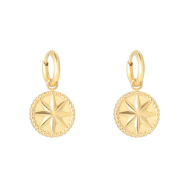 Earrings Mystic Star - gold