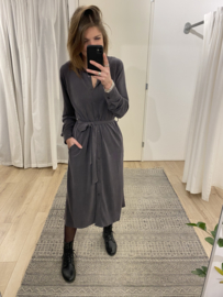 Soft long blouse dress Rebelz - grey
