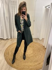 Bouclé jacket - green