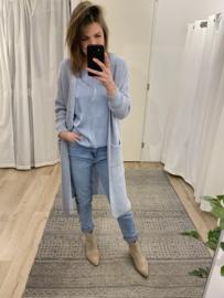 Knitted long cardigan Azzurro - blue light