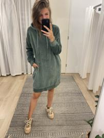Hoodie dress - green