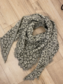 Panter triangle scarf 2.0 - army green