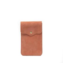 Little phone bag - suede peach