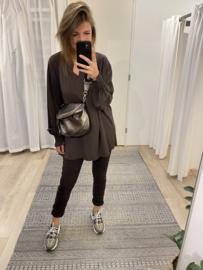 Basic smog blouse - dark brown