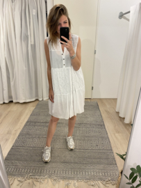 Embroidery summer dress - white