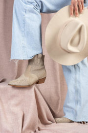 DWRS Label Lucca western boots - beige