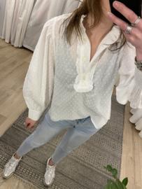 Puff blouse Rebelz - white