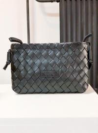 DWRS Label Alanya braided leather bag - black