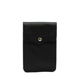 Little phone bag - leather black