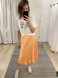 Satin skirt - peach
