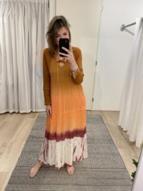 Dip dye maxi dress - orange