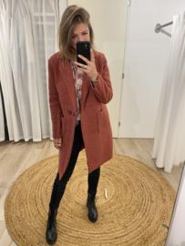 Bouclé jacket - framboos