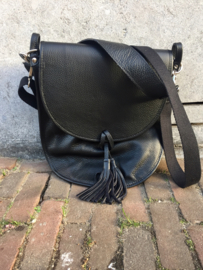 Tassel leather bag Rebelz - black