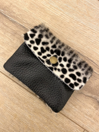 Leather wallet - spot white