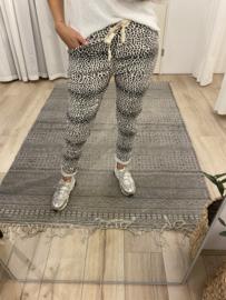 Print jog pants - off white