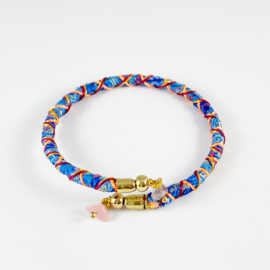 Sari wrap bracelet Loffs - blue