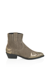 DWRS Label Austin western boots - suède metallic