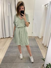 Blouse ceintuur dress 2.0 - army green